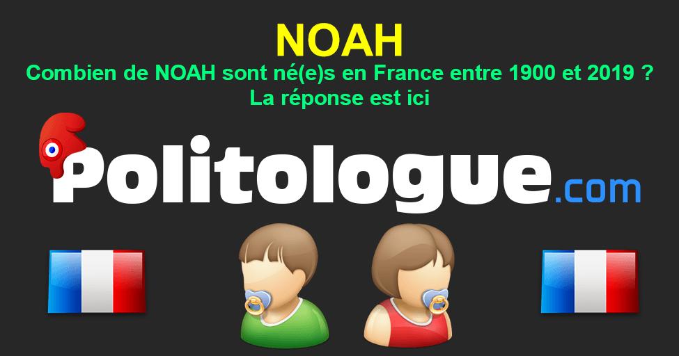 Prénom Noah évolution Du Prénom Noah En France Depuis 1900